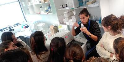 Nuestros alumnos en BioDonostia
