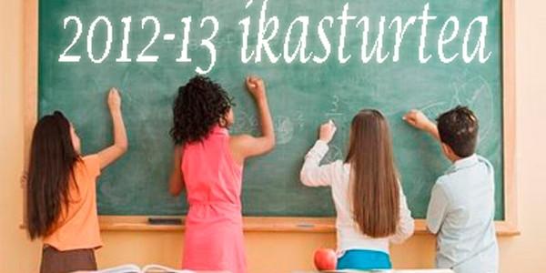 2012-13 ikasturteko informazio eguneratua