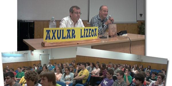 Jordi Badia eta Luisjo Gómez gure ikasleekin