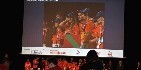 Overclock Axular FLLko Espainiako finalean saritua