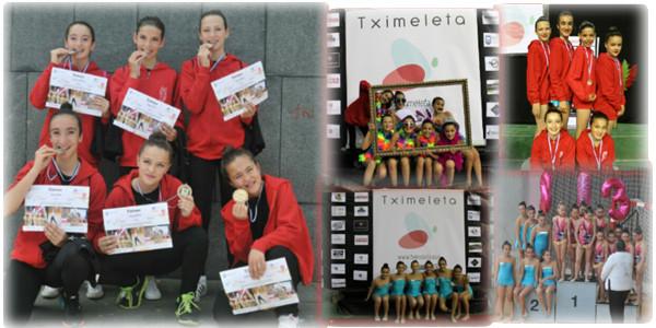 Las gimnastas de 6º de Primaria ascienden de categoría