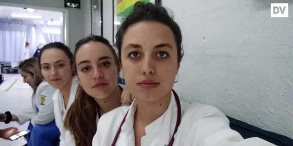 En la fotografía Itziara Gonźález con sus compañeras vascas