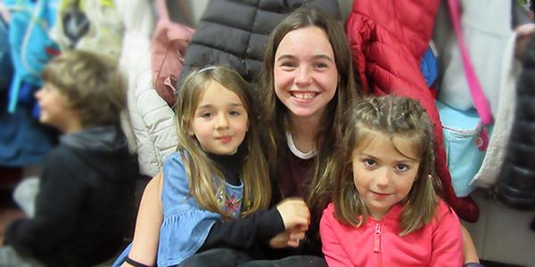 Encuentro de alumnos de Infantil y Secundaria