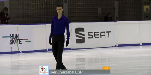 Iker Oyarzabal, medalla de oro en el campeonato estatal de patinaje artístico